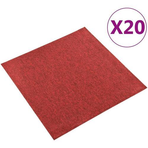 Teppichfliesen 20 Stk. 5 m² 50x50 cm Rot - Youthup