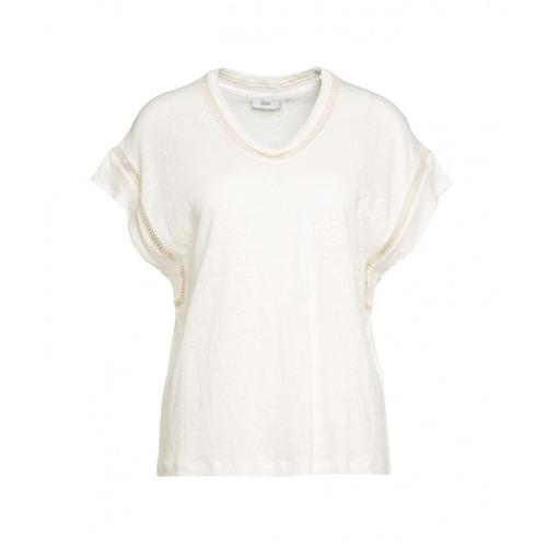 Closed Damen Shirt mit Stickdetails Weiß