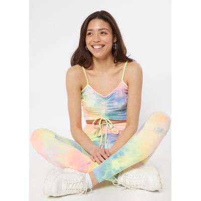 Rue21 Womens Pastel Tie Dye Ruched Front Leggings - Size S