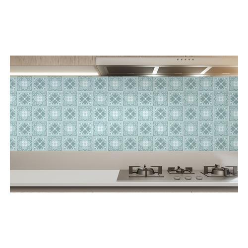 Wand-Aufkleber für Küche: Ginnie Floral Light Grey Victorian