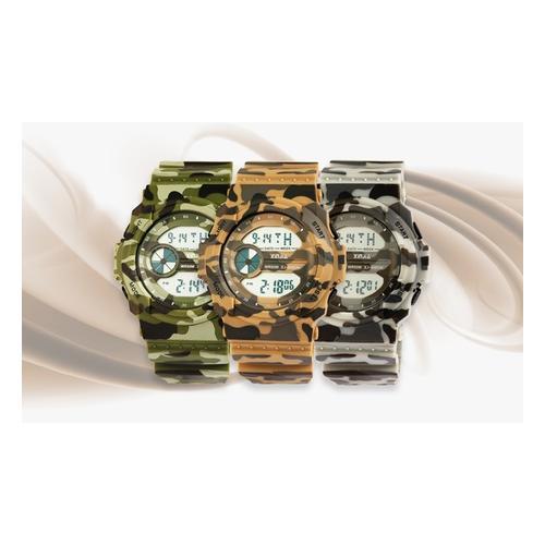 Digitale Armbanduhr: Grün