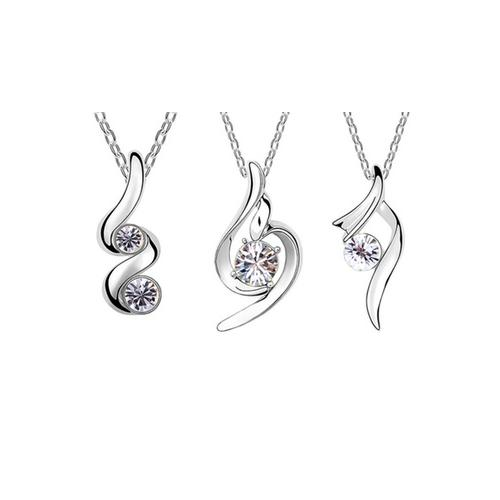 Halskette mit Anhänger mit Swarovski®-Kristallen: Lucky