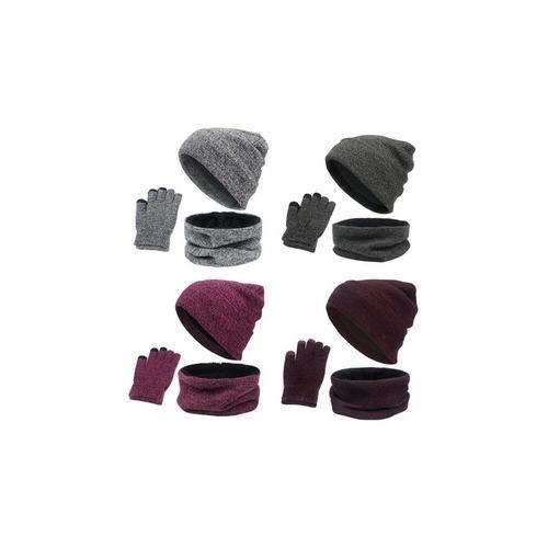 Accessoires-Set für den Winter: Lila / 1