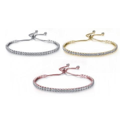 Armband mit Swarovski®-Kristallen: Gold