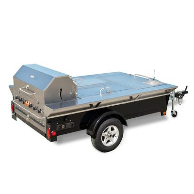 """Crown Verity TG-4 46"""" Towable Gas Commercial Outdoor Grill w/ Water Pans, Liquid Propane"""