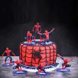 7 figurines Spiderman en PVC, jo...