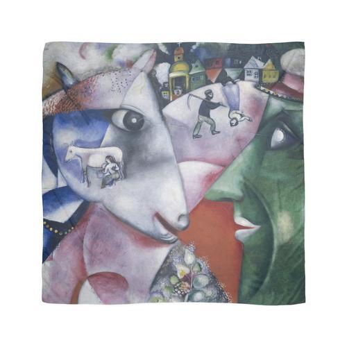 Marc Chagall - Ich und das Dorf Tuch