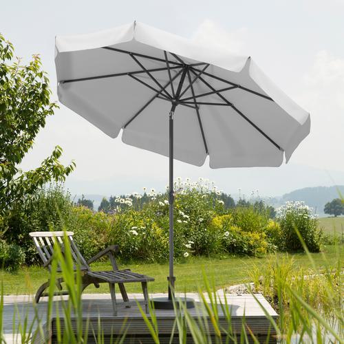 Schneider Schirme Sonnenschirm Orlando, abknickbar, ohne Schirmständer silberfarben Sonnenschirme -segel Gartenmöbel Gartendeko