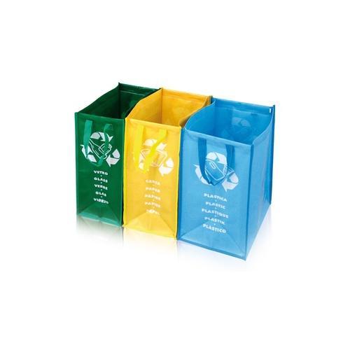 3er-Set Recycling-Taschen
