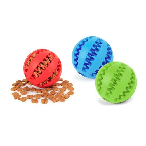Spielball für Hunde: Blau + Rot/Gr. M