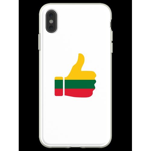 Fahnen-Daumen von Litauen Flexible Hülle für iPhone XS Max