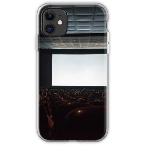 Leere Kinoleinwand mit Publikum. Flexible Hülle für iPhone 11