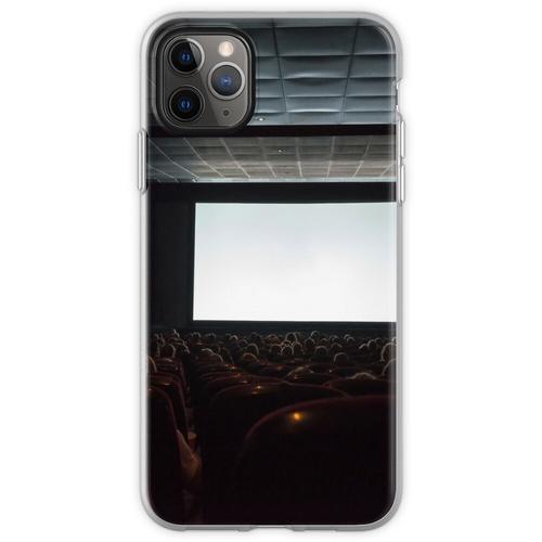Leere Kinoleinwand mit Publikum. Flexible Hülle für iPhone 11 Pro Max