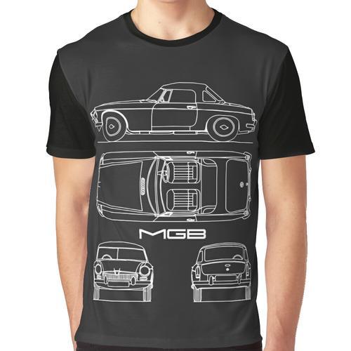 Der MGB-Bauplan Grafik T-Shirt
