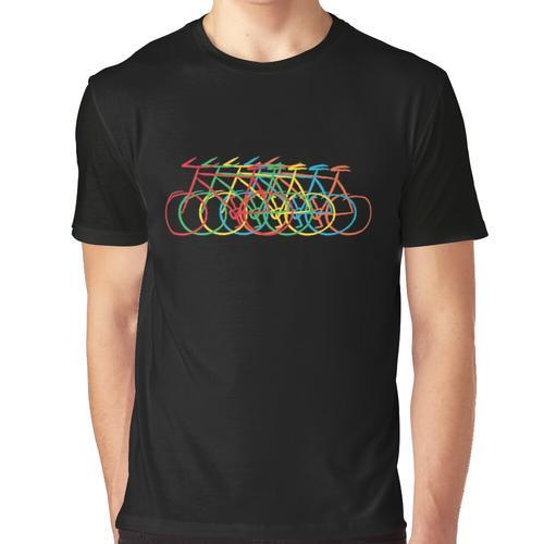 Nur Fahrrad, bunt Grafik T-Shirt