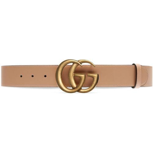 Gucci Breiter GG Marmont Gürtel aus Leder