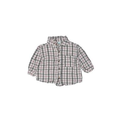 Kids Play - Kids Play Long Sleeve Button Down Shirt: Red Plaid Tops - Size 3-6 Month