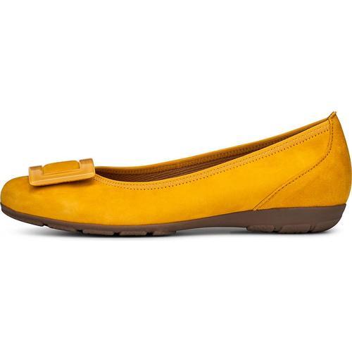 Gabor, Sommer-Ballerina in gelb, Ballerinas für Damen Gr. 36
