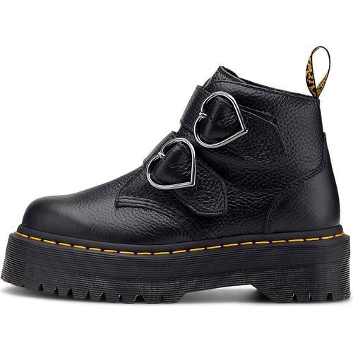 Dr. Martens, Schnallen-Boots Devon Heart in schwarz, Boots für Damen Gr. 37