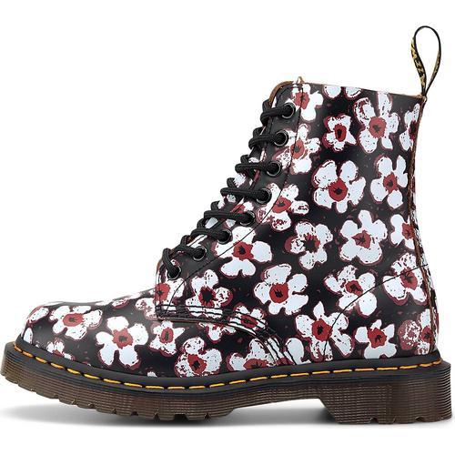 Dr. Martens, Schnür-Boots 1460 Pascal Floral in schwarz, Boots für Damen Gr. 38