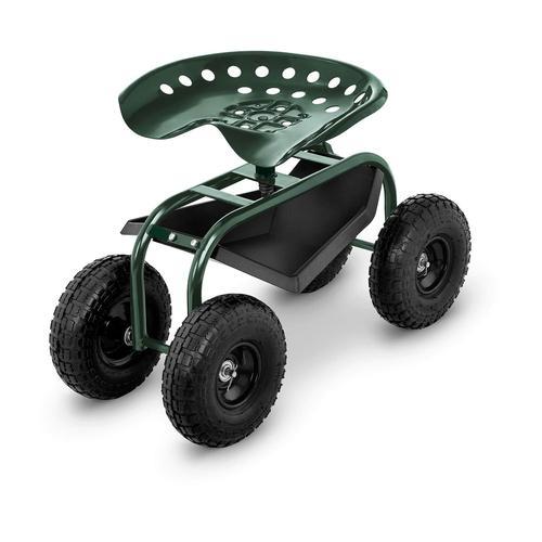 hillvert Fahrbarer Gartensitz - 150 kg - höhenverstellbar HT-RUNDLE-10