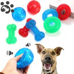 Jouet couineur en caoutchouc pour chien, jouet à mâcher, Durable et sécurisé, brosse à dents et