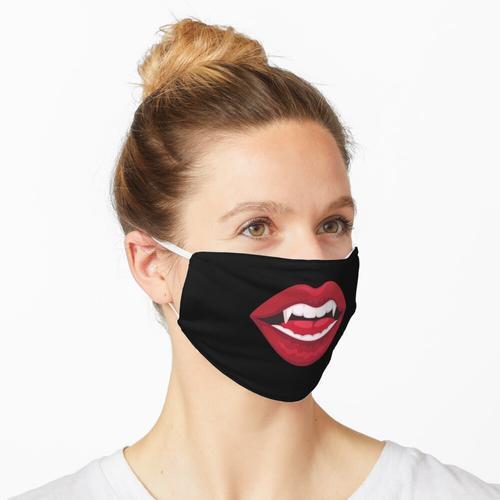 Rosenrote Lippen Maske