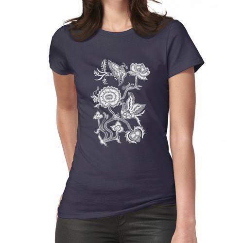 Chinesischer Vogel & Blumen Frauen T-Shirt