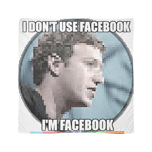 Ich benutze FACEBOOK NICHT - ICH BIN FACEBOOK von RootCat | 02/12 Tuch
