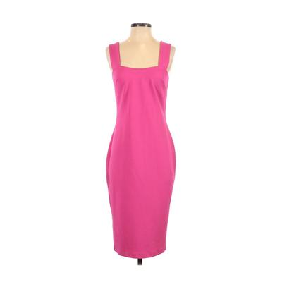 Betsey Johnson Cocktail Dress - Midi: Pink Solid Dresses - Used - Size 4