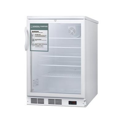 Summit SCR600GLGP 5.5 cu ft Undercounter Medical Refrigerator - White, 115v