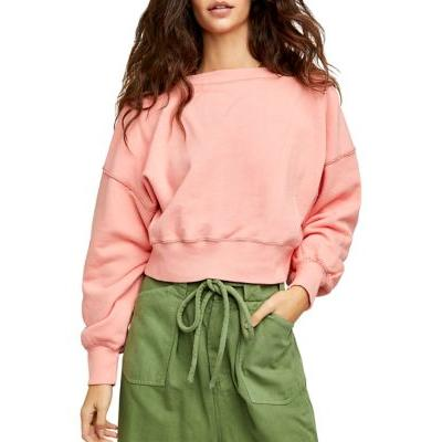 Free People Pinched Cheeks Take Me Back Pullover