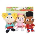 Fetch For Pets Nickelodeon Hey Arnold Gerald, Helga & Arnold Squeaky Plush Dog Toys, 3 count
