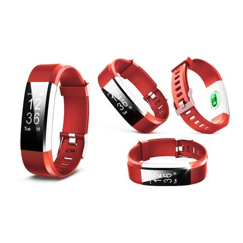 Aquarius Fitness-Tracker AQ125 in Rot mit Farbbildschirm