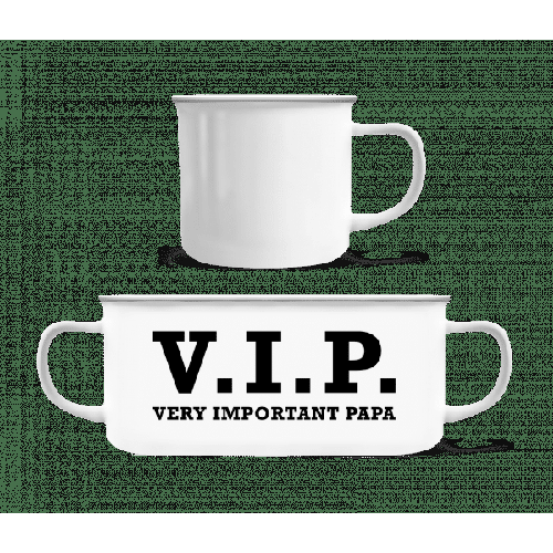 VIP PAPA - Emaille-Tasse