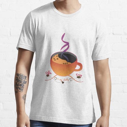 DNA-Kaffee, Kaffee ist meine tägliche Droge, Kaffeeliebhaber, Essential T-Shirt
