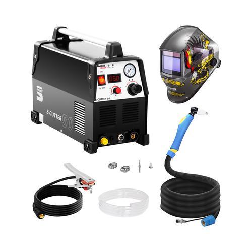 Stamos Power ² Schweißset Plasmaschneider - 50 A - 230 V - Pro + Schweißhelm – Eagle Eye