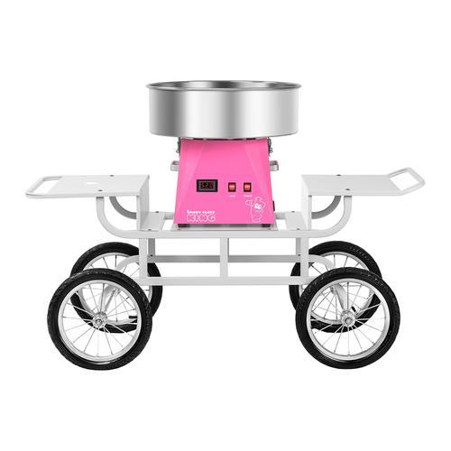 Royal Catering Zuckerwattemaschine Set mit Unterwagen - 52 cm - pink/weiß RCZK-SET5