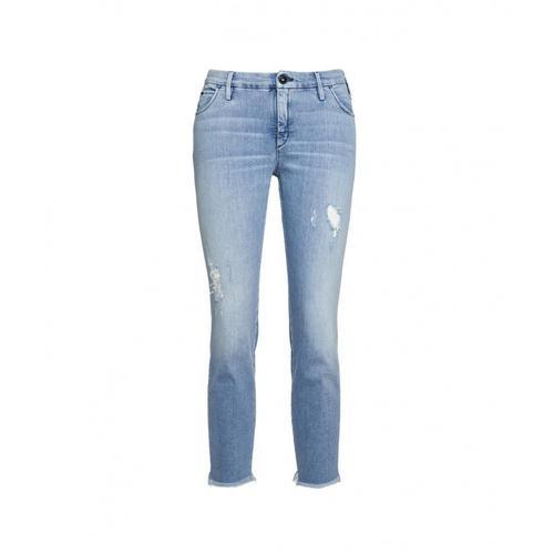 Cycle Damen Jeans Brigitte Blau