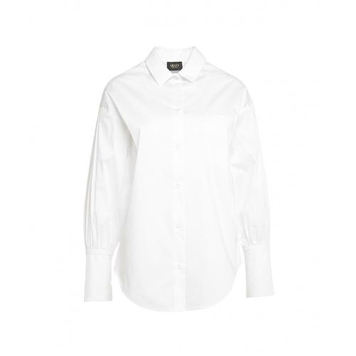 Liu Jo Damen Bluse in Baumwolle Weiß