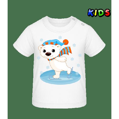Bär Läuft Schlittschuh - Baby T-Shirt