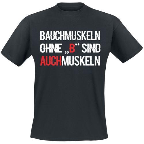 Bauchmuskeln Herren-T-Shirt - schwarz