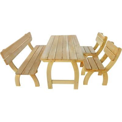 Zqyrlar - Outdoor Dining Set 4 Pieces Impregnated Pinewood - Brown
