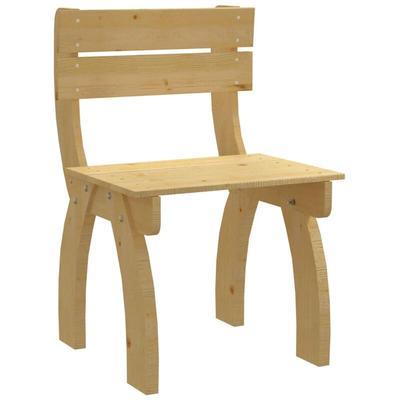 Zqyrlar - Garden Chair Impregnated Pinewood - Brown