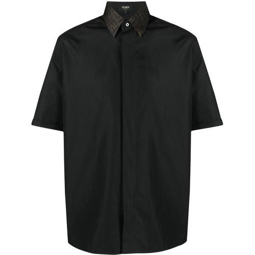 Fendi Hemd mit Kontrastkragen