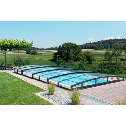 Poolüberdachung / Schwimmbeckenüberdachung schienenlos / ohne Schienen SkyCover® Liberty 3.5x6.3m