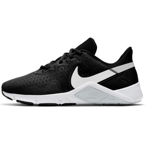 Nike Legend Essential 2 Fitnessschuhe Damen in black-white-pure platinum, Größe 42