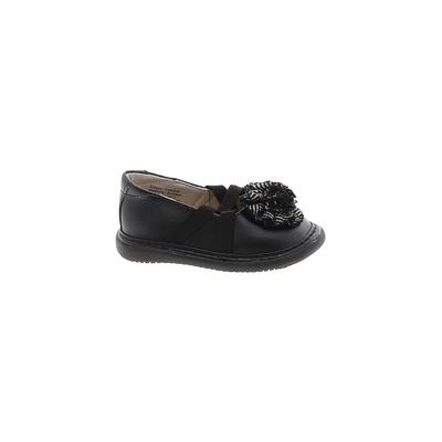 Wee Squeak Flats: Black Solid Shoes - Size 5