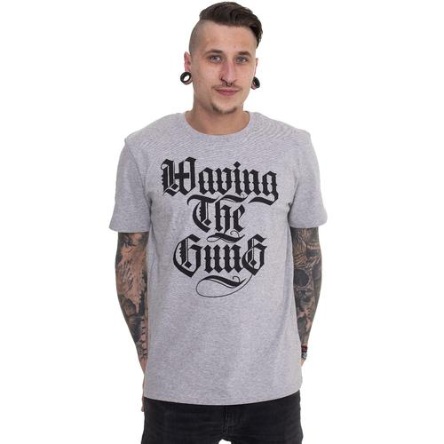 Waving The Guns - Kalligraphie Grey - - T-Shirts