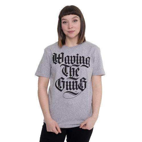 Waving The Guns - Kalligraphie Grey - - T-Shirts